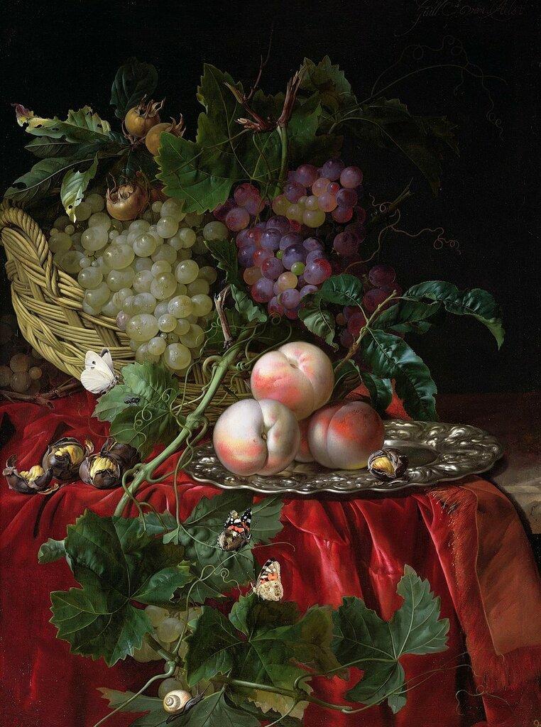 Натюрморт с виноградом и персиками (Частная коллекция).jpg