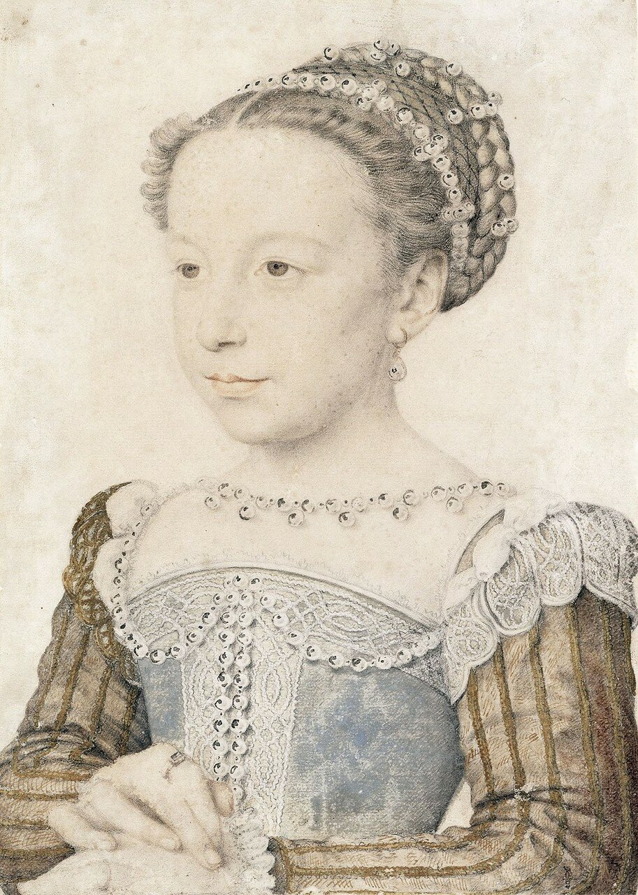 Маргарита де Валуа (королева Марго), королева Наваррская (Marguerite de Valois, la Reine Margot, reine de Navarre)_Шантильи, музей Конде.jpg