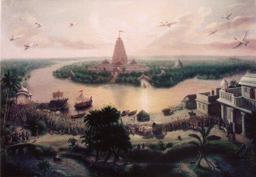 Картина духовного мира на земле во времена Радхи-Кришны