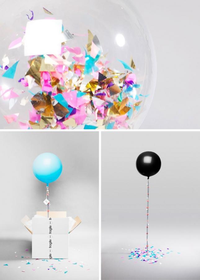 4. Воздушный шар Как вам идея отправить по почте воздушный шар, тематически оформленный и наполненны