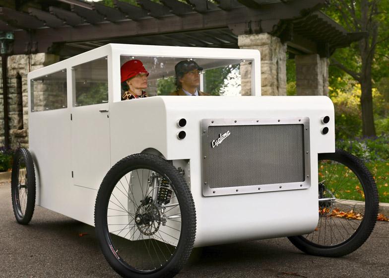 Что получится, если соединить велосипед и автомобиль (9 фото)