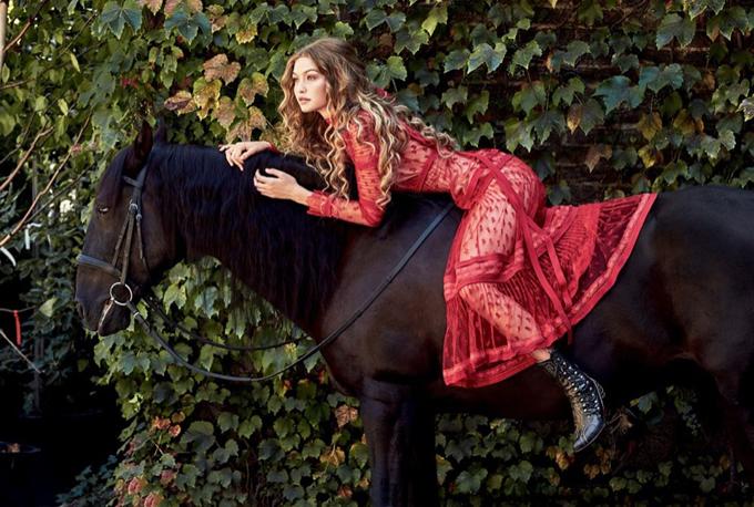 Джиджи Хадид в Allure Magazine