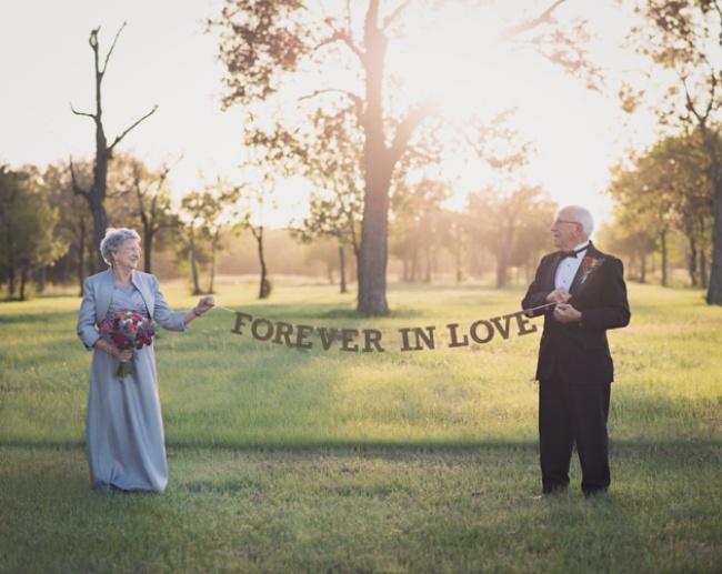 Эта пара ждала 70лет, чтобы сделать свадебную фотосессию (9 фото)