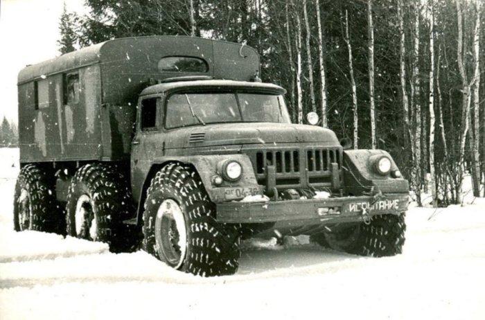 ЗИЛ-132 с автоматической коробкой передач и 24-дюймовыми шинами, 1961 год. ЗИЛ-132П Модель ЗИЛ-132П