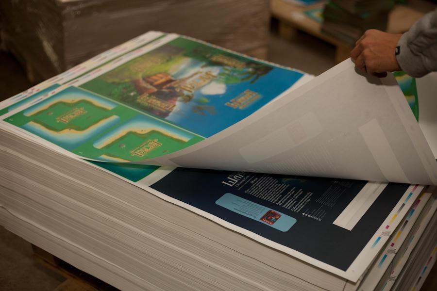 21. Довольно тонкая по сравнению с коробкой бумага, которая уже запечатана: