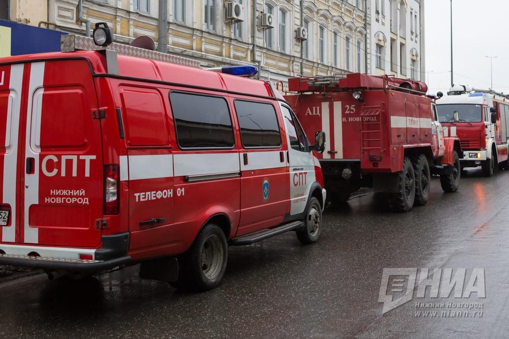 Киоск шаурмы наСредном горел вНижнем Новгороде