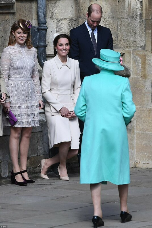 The Duke and Duchess of Cambridge looked in excellent spirits as a