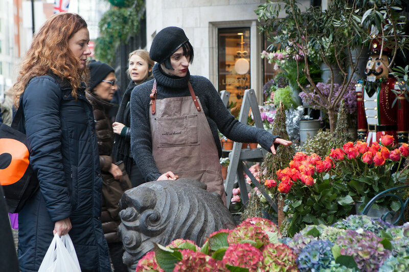 LONDON, UK - AUGUST 30: Seller sell flowers at the Liberty shop on November 30, 2016 in London, UK.