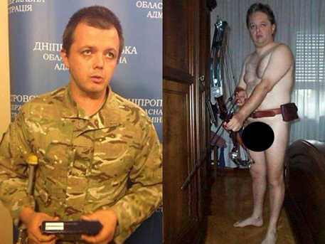 Это гидроцефал Семён Семенченко . Эта сука снова грозится.