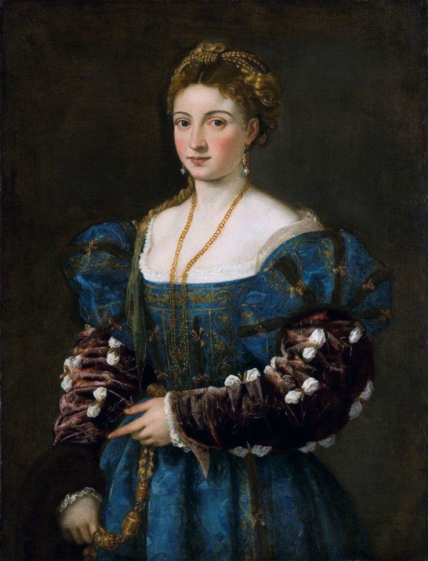 La bella, by Titian