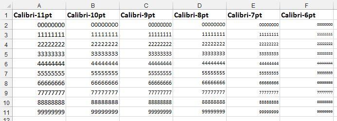 Как в Excel обойтись без подстановки шрифтов при применении малых кеглей