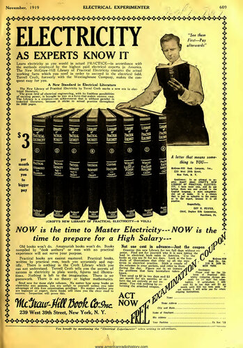 Electrical Experimenter: 1919 November - - Book Cover