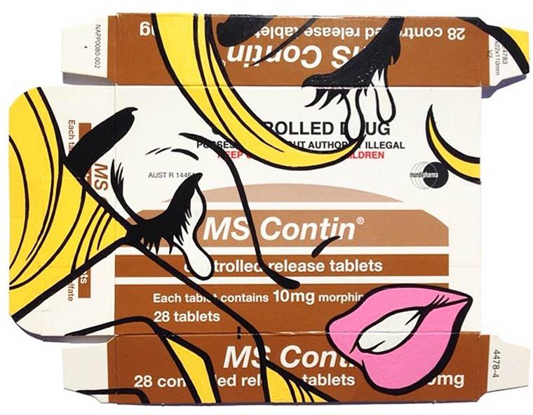 Quand l'artiste Ben Frost dessine sur les emballages de medicaments…