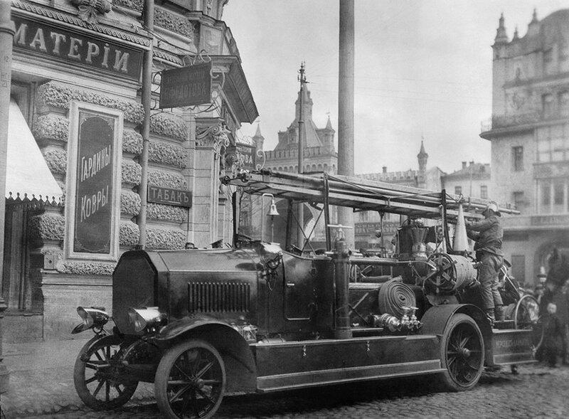 Пожарный автомобиль, 1914 год