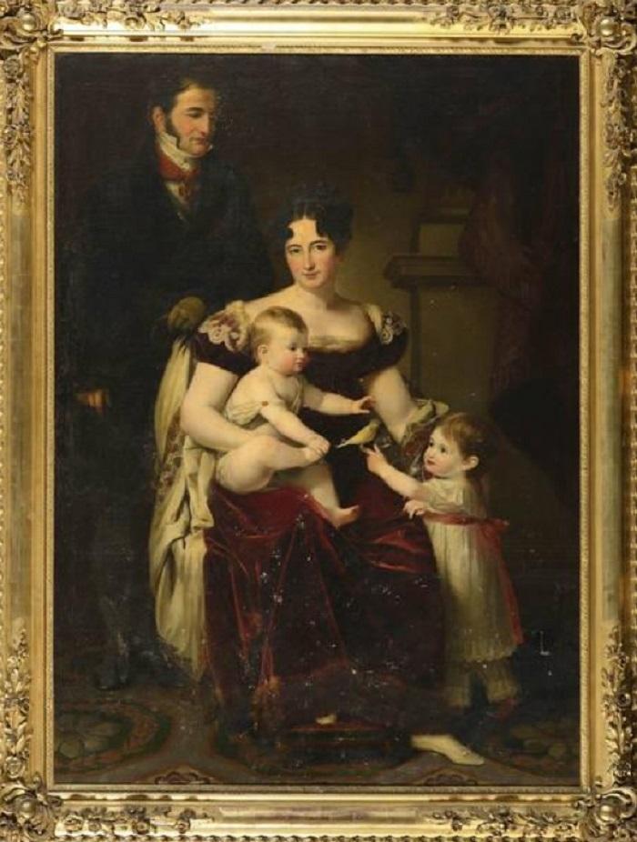 José de Madrazo y Agudo<br /> Portrait de famille, 1821