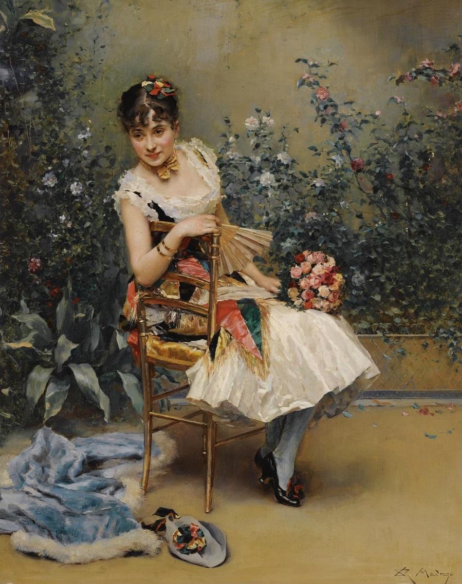 Алина Масон с цветами (Aline con flores)_56 х 45_д.,м._Частное собрание.jpg