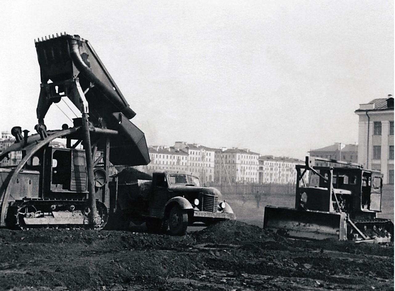 Челябинск. Одна из строительных площадок города (1959)