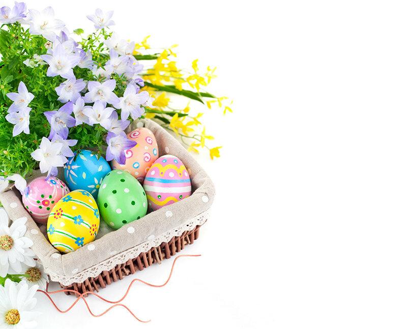 идеи покраски яиц на Пасху на стол