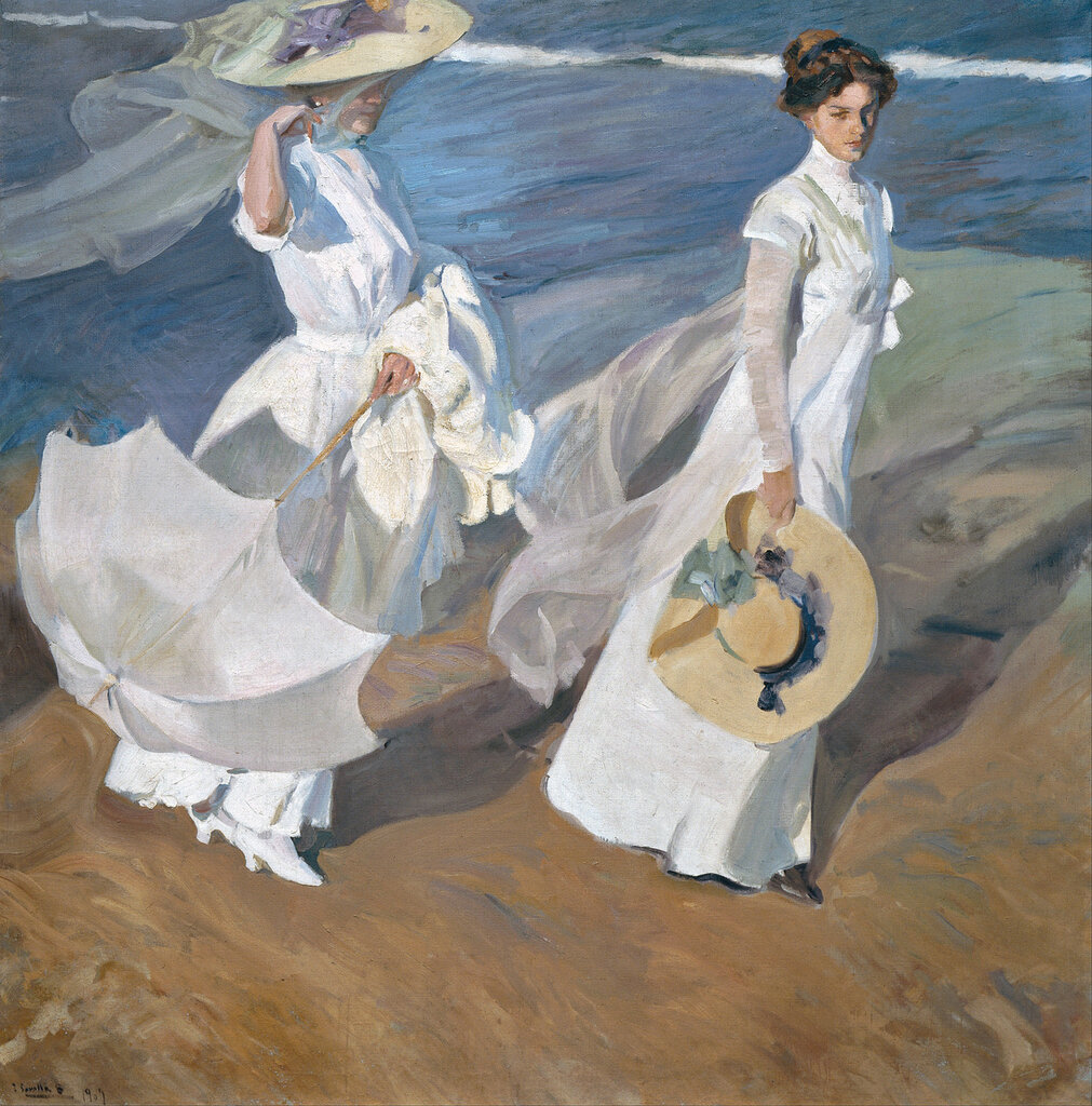 Прогулка по берегу моря_1909_х.,м..jpg