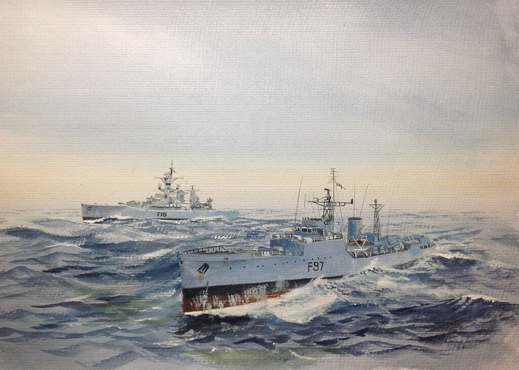 HM Frigates Russell F97 and Aurora F10.