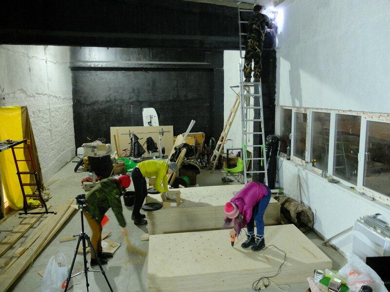 Строительство скалодрома WoodRock