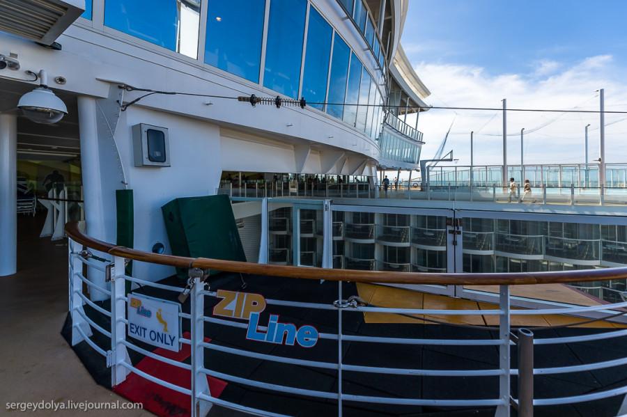 11. Zip Line — скоростной спуск по тросу с одной стороны корабля на другую