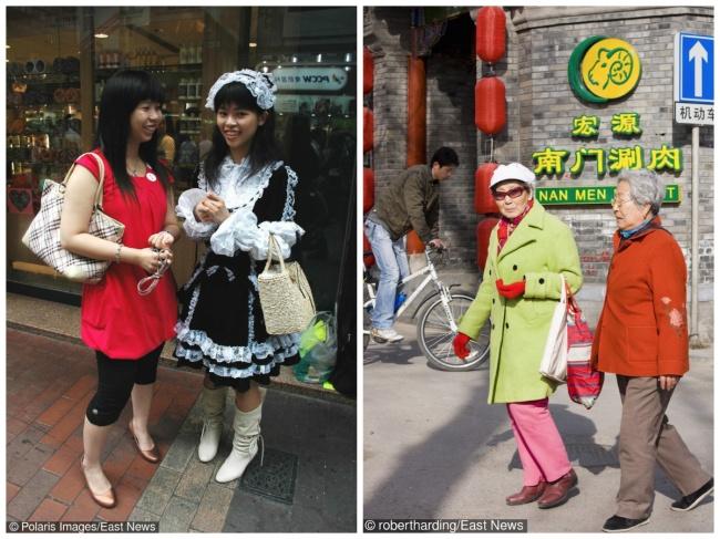 © East News  Даже взрелом возрасте китаянки неперестают носить яркие цвета имилые вещи. Кит