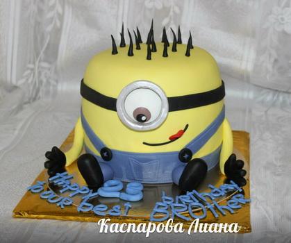 Торт из мастики мультфильм Миньон