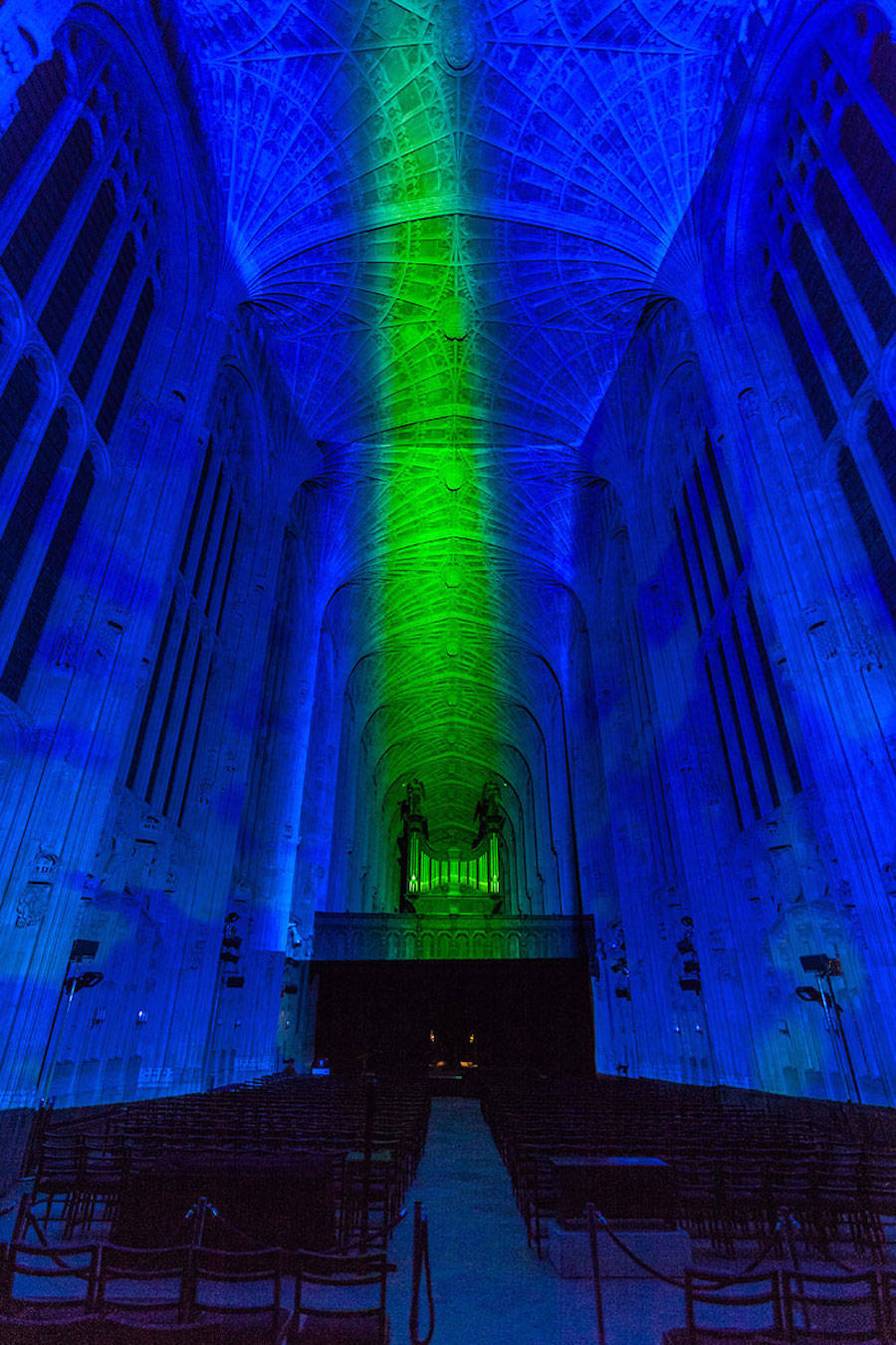 Impressive Images Projections Into a Chapel