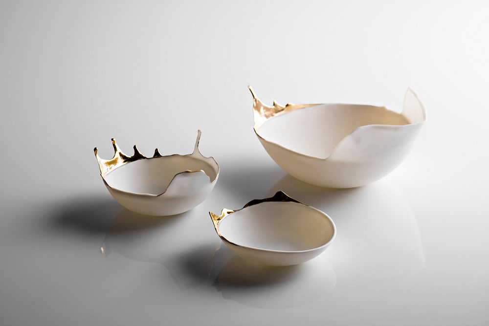 Fluid Porcelain Bowls by Aylin Bilgic Look Like Splashes Frozen in Time