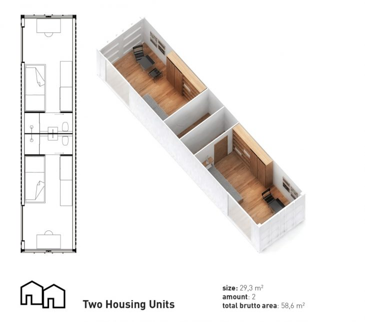 The aim of the design for the new building on Jagtvej 69 is to create temporary accomodation for hom