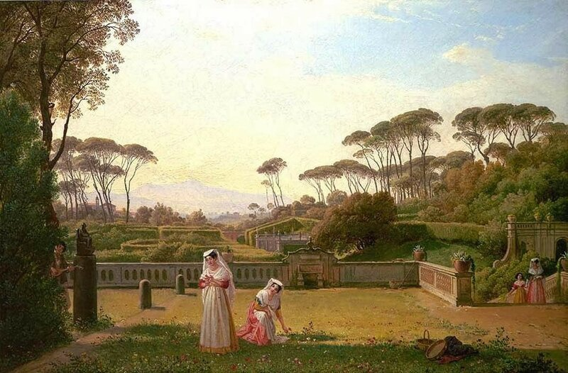 3 Franz_Ludwig_Catel_-_Garden_of_the_Villa_Doria_Pamphili_in_Rome_-_WGA4565.jpg