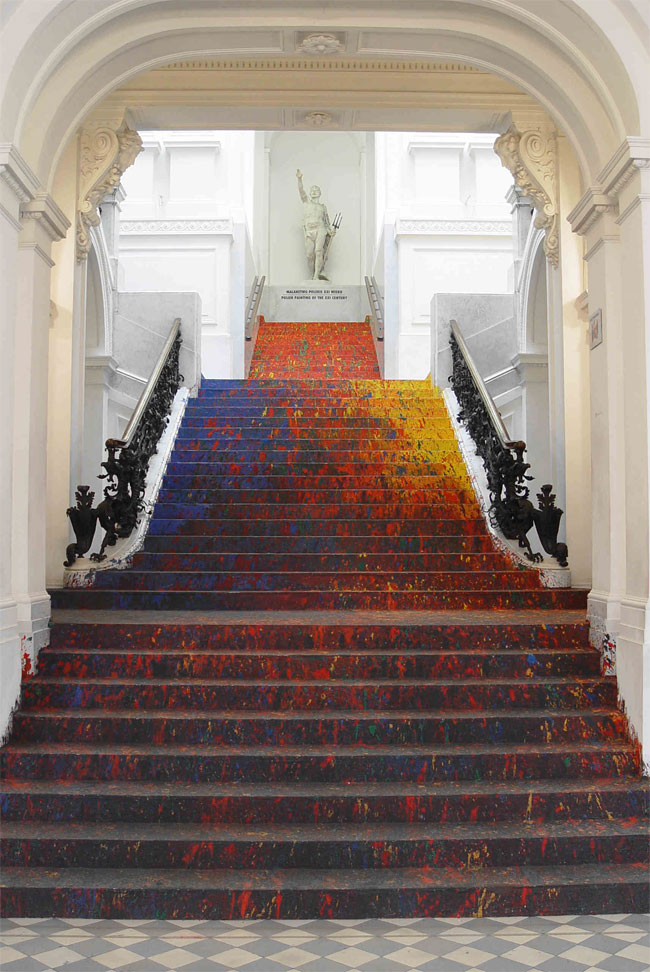 Audacious Artwork in Poland National Gallery Staircase (3 pics)