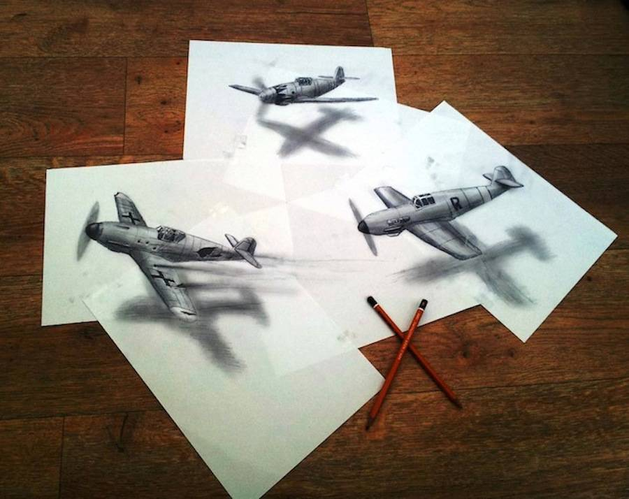Incredible 3D Pencil Drawings
