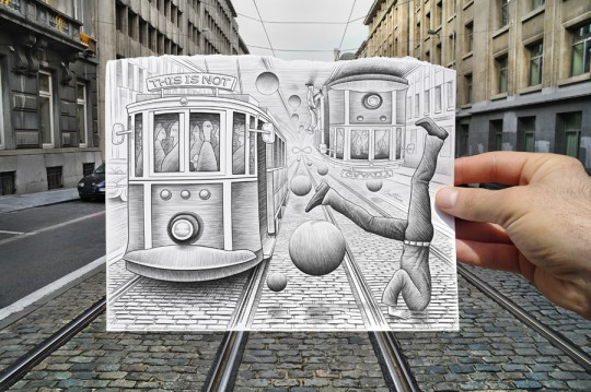 Pencil vs Camera by Ben Heine