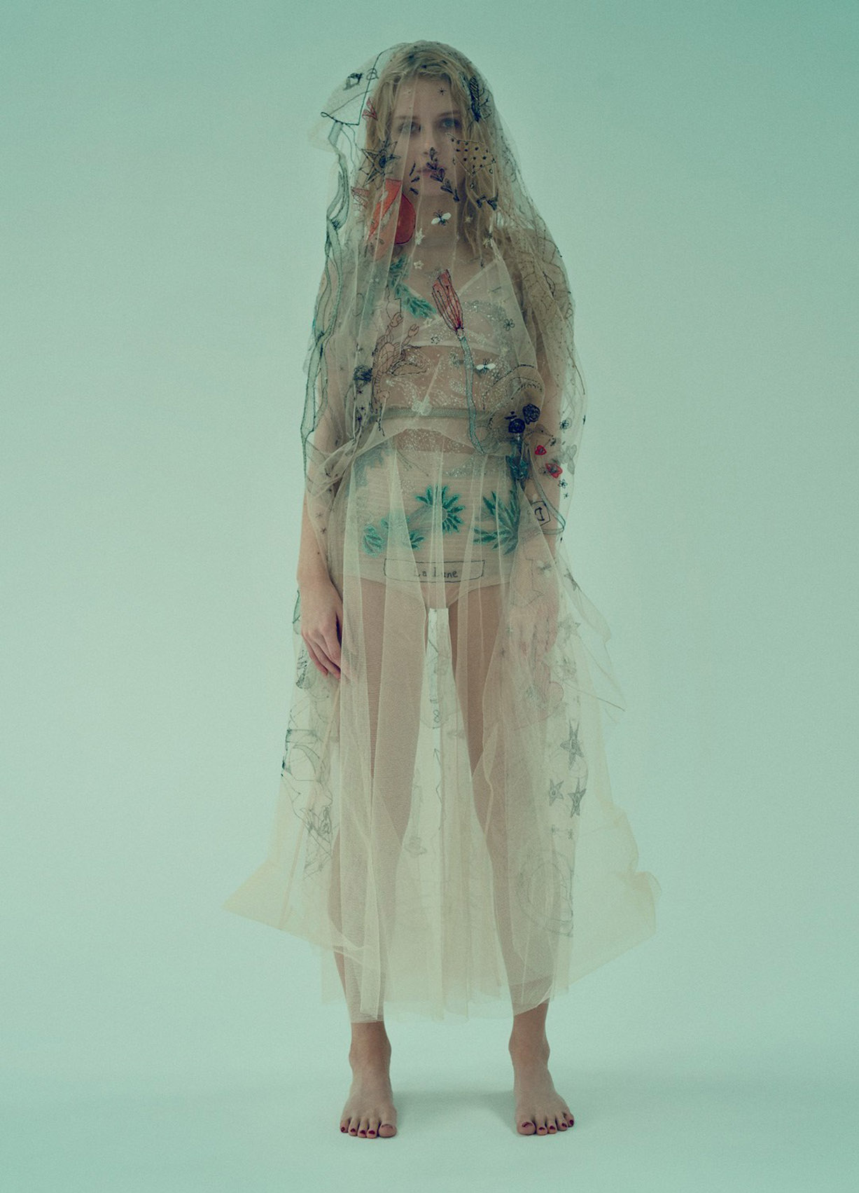 зеленая Лотти Мосс / Lottie Moss by Sofia Sanchez & Mauro Mongiello - Numero Magazine China april 2017