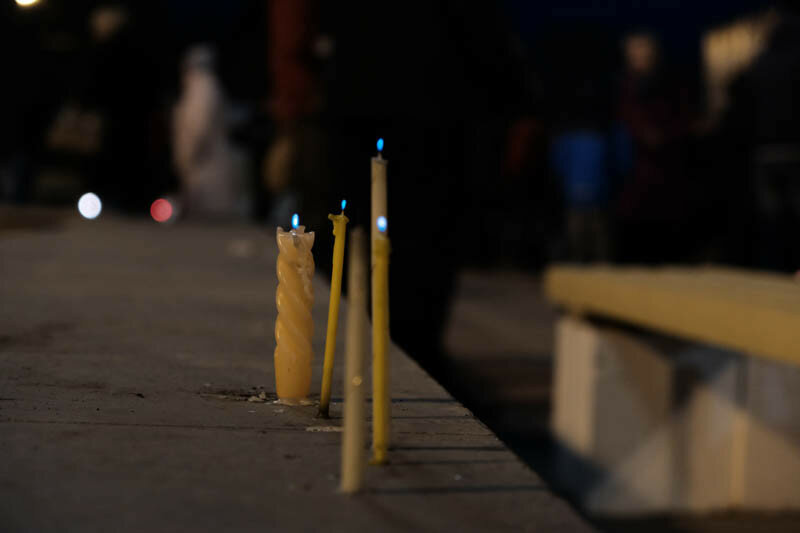 свечи которые вот вот погаснут