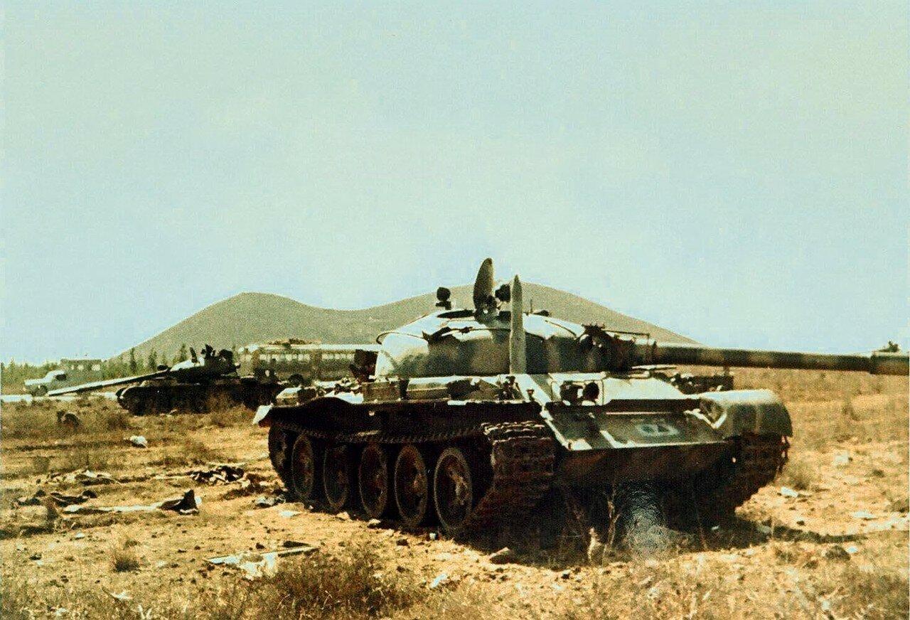 Сирийский танк Т-62 во время арабо-израильской войны