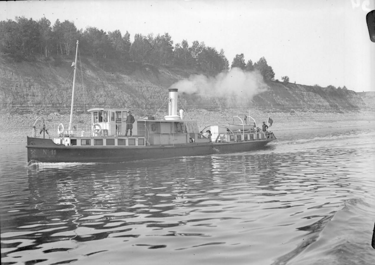 1915-1916. Пароход-буксир «№11». Общий вид