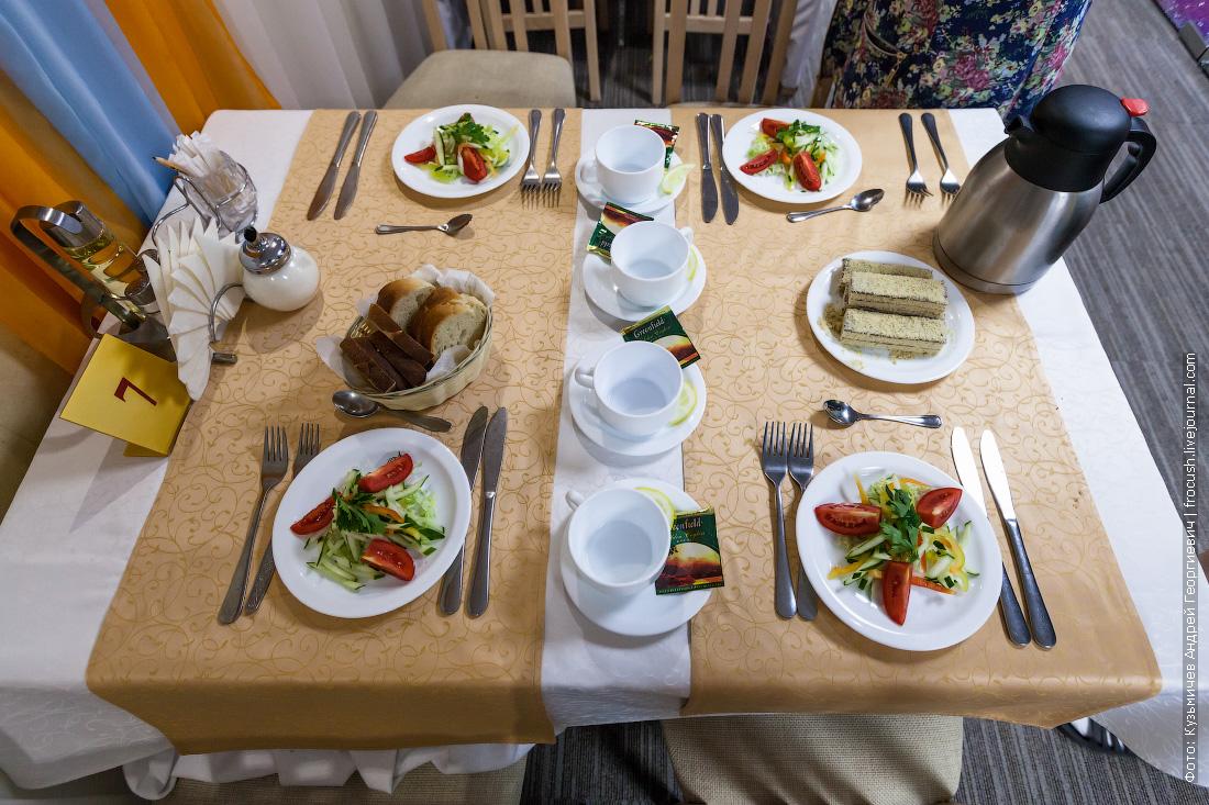 теплоход русь великая стол 7 в ресторане