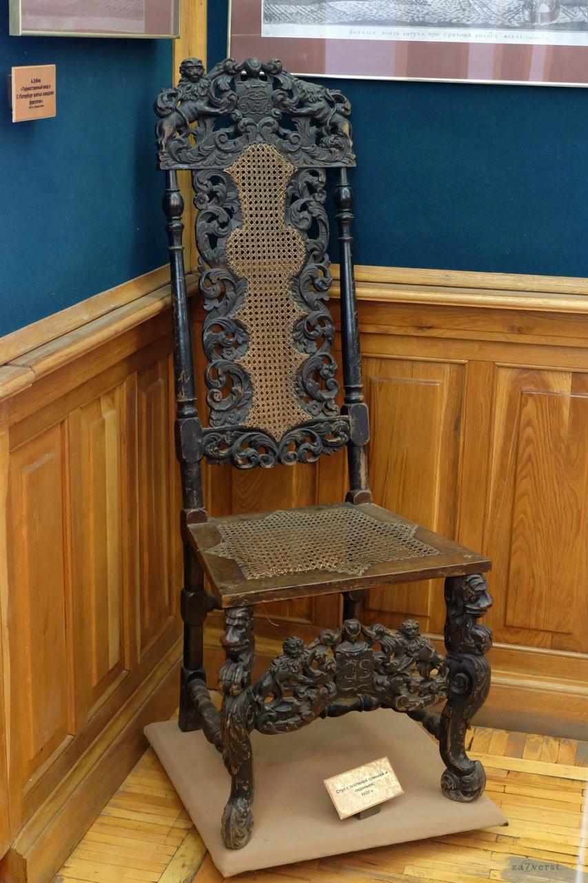 Домик Петра в Вологде, музей, стул XVIII века