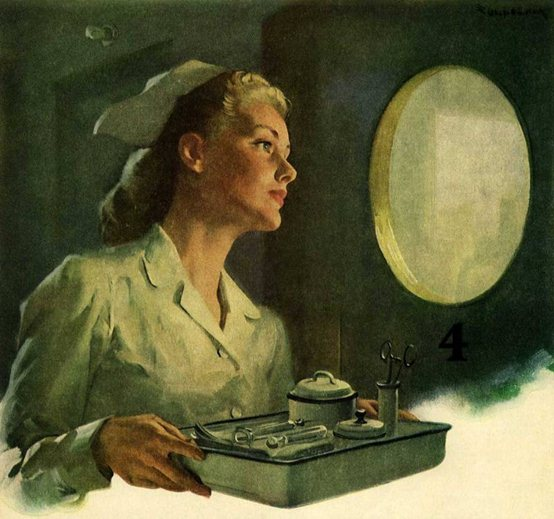 Медицинская сестра. Ретро открытки фото рисунки картинки поздравления