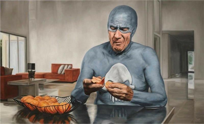 Портреты пожилого Супермена. Картины Андреаса Энглунда