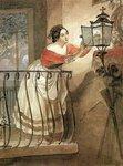 Итальянка, зажигающая лампаду перед образом Мадонны (1835) (29x19) (Москва, Третьяковская галерея).jpg