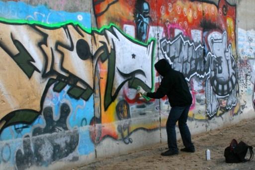 19-летний гражданин  Волгограда был схвачен  заграффити настенах речпорта