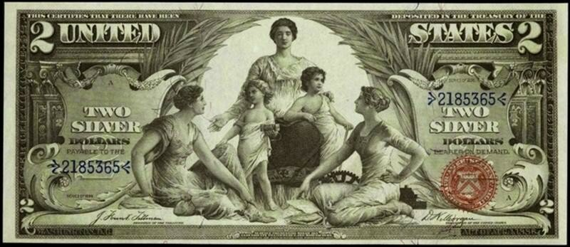 Мифы и легенды о двух долларах одной банкнотой