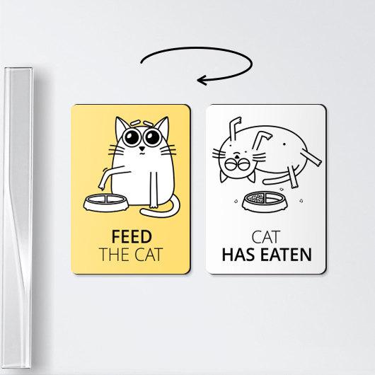 Магнит с напоминанием покормить кота.