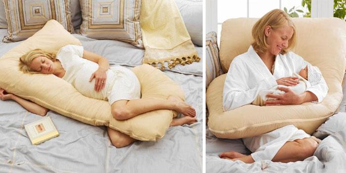 Удобная подушка для беременных и матерей.