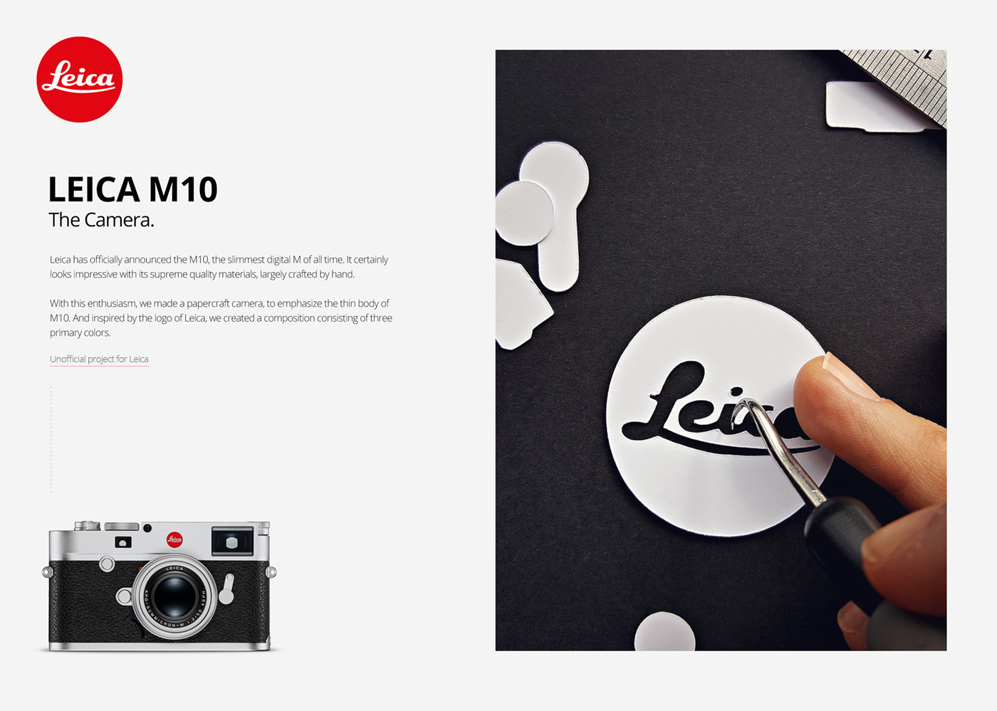 Beautiful Leica M10 Reproduced in Paper