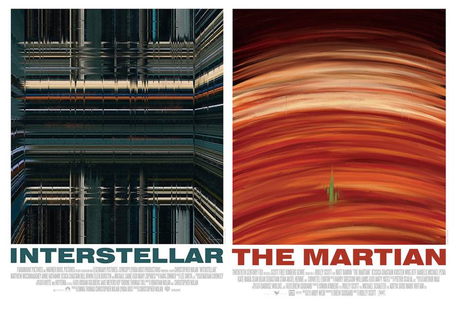 Popular Movies Posters recreated with Brushstrokes